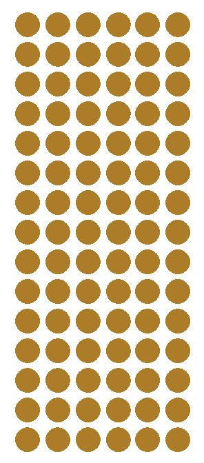 "1/2"" GOLD Round Vinyl Color Coded Inventory Label Dots Stickers - Winter Park Products"
