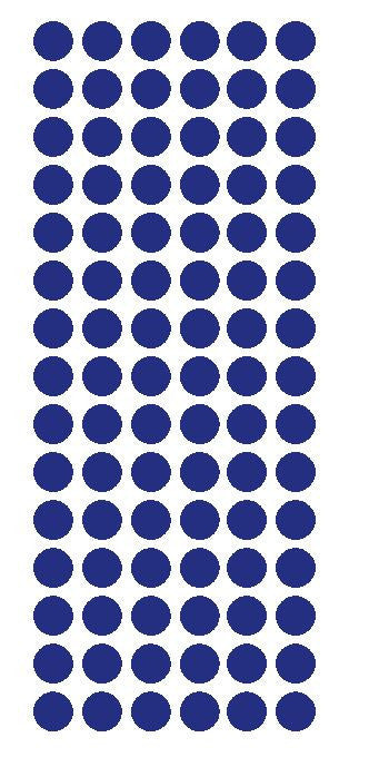 "1/2"" DARK BLUE Round Vinyl Color Coded Inventory Label Dots Stickers - Winter Park Products"