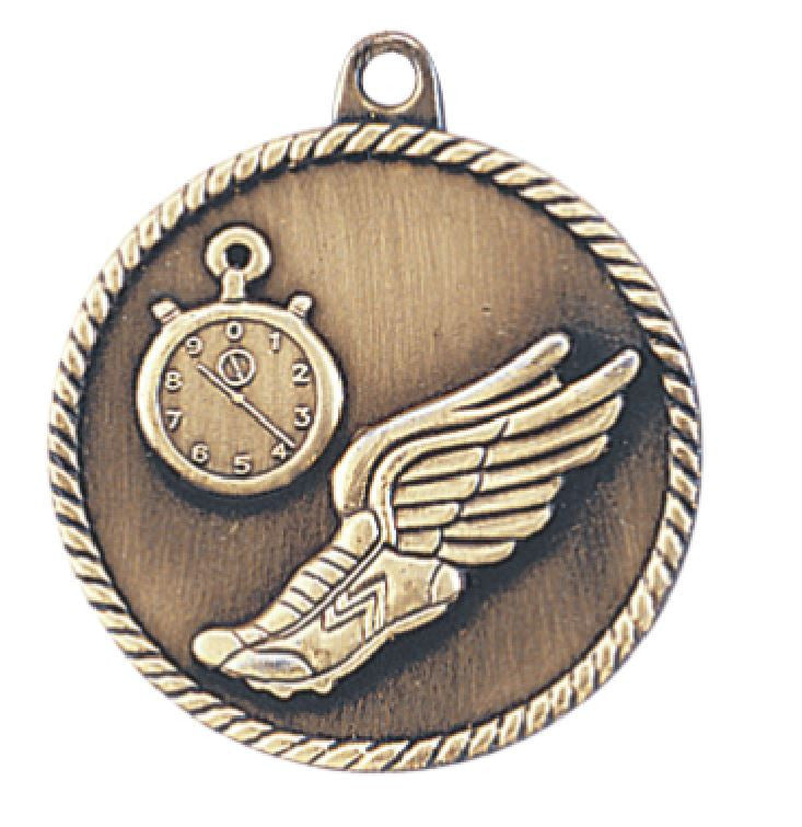 Track Medal Award Trophy With Free Lanyard HR760 - Winter Park Products
