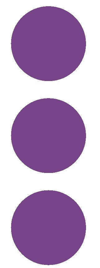 "2-1/2"" Lavender Round Color Code Inventory Label Dots Stickers - Winter Park Products"