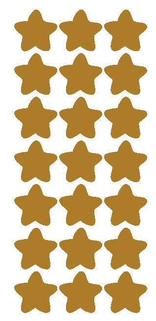 "1-1/4"" Gold Star Stickers Wedding Envelope Seals School Arts & Crafts - Winter Park Products"