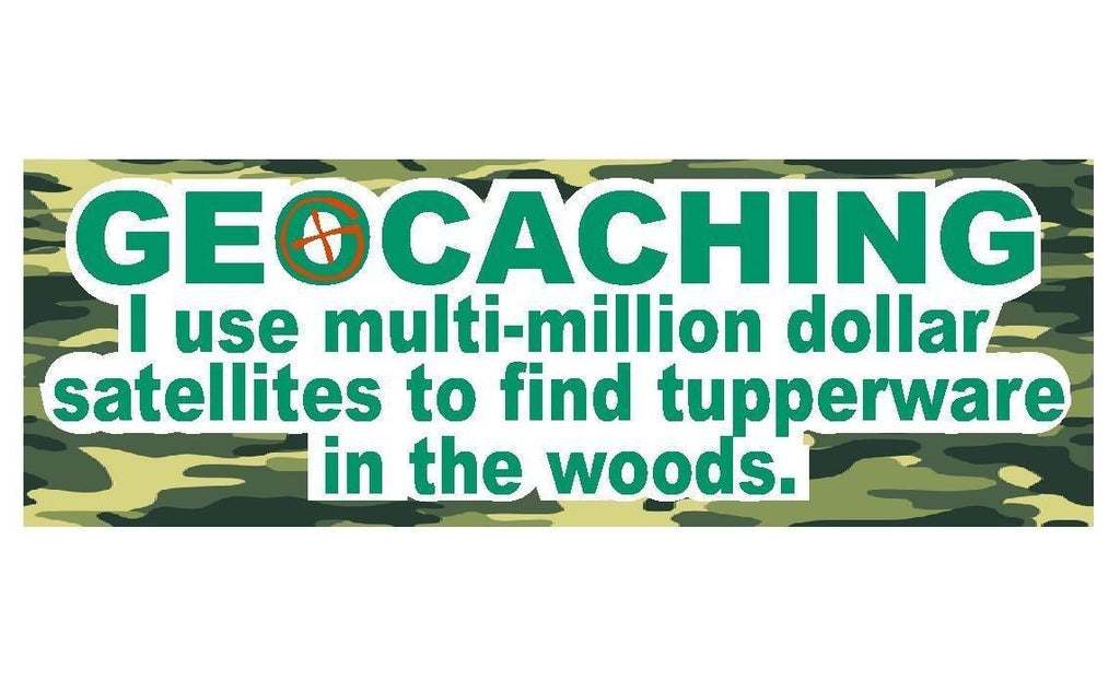 Geocaching Logo Swag Bumper Sticker or Helmet Sticker Treasure Hunt #D212 - Winter Park Products