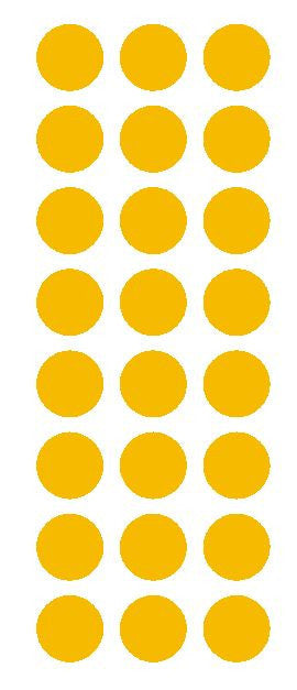 "1"" Golden Yellow Round Vinyl Color Code Inventory Label Dot Stickers - Winter Park Products"
