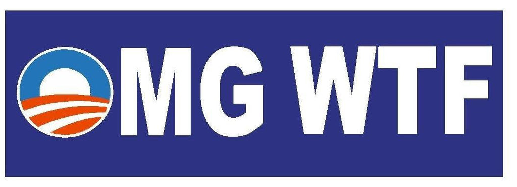 OH MY GOD WHAT THE F$#K Anti Obama Bumper Sticker or Helmet Sticker D393 - Winter Park Products
