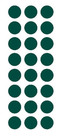 "1"" Dark Green Round Vinyl Color Code Inventory Label Dot Stickers - Winter Park Products"