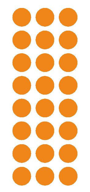 "1"" Light Orange Round Vinyl Color Code Inventory Label Dot Stickers - Winter Park Products"