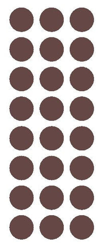 "1"" Brown Round Vinyl Color Code Inventory Label Dot Stickers - Winter Park Products"