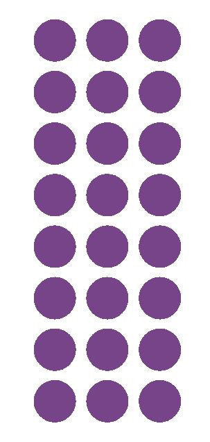"1"" Lavender Round Vinyl Color Code Inventory Label Dot Stickers - Winter Park Products"