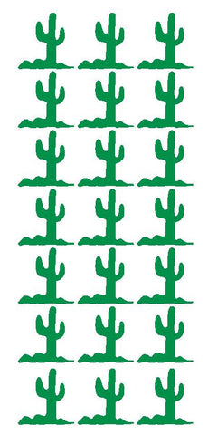"1-1/4"" Green Cactus Stickers Western Desert Envelope Seals School arts Crafts - Winter Park Products"
