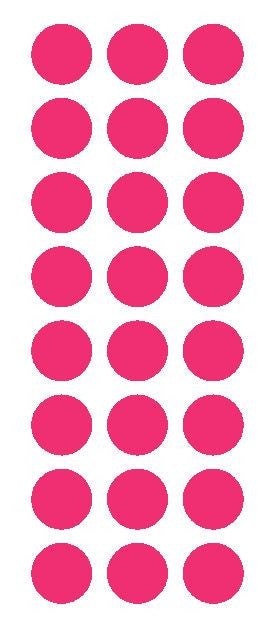 "1"" Hot Pink Round Vinyl Color Code Inventory Label Dot Stickers - Winter Park Products"
