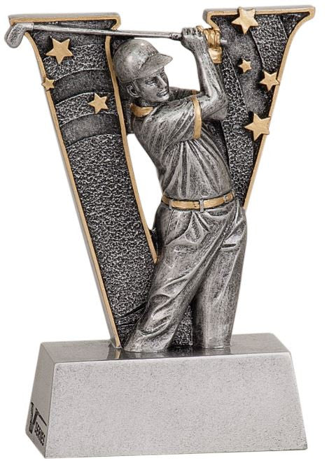 WHOLESALE Lot of 12 Male Golf Trophy Award $5.99 ea. FREE Shipping V706 - Winter Park Products