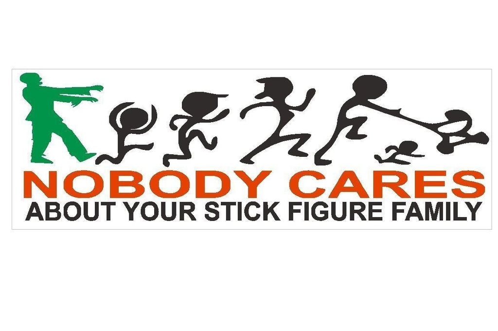 Zombie Funny Stick Figure Family Bumper Sticker or Helmet Sticker USA D114 - Winter Park Products