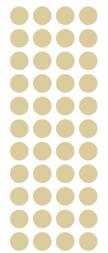 "3/4"" Beige Tan Round Color Code Inventory Label Dot Stickers - Winter Park Products"