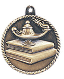 Lamp of Knowledge Medal Award Trophy With Free Lanyard HR740 - Winter Park Products