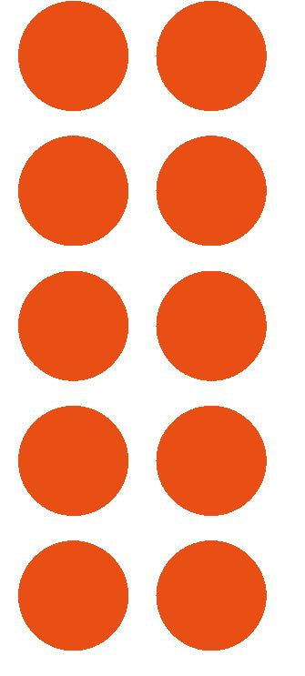 "1-1/2"" Orange Round Color Coded Inventory Label Dots Stickers - Winter Park Products"