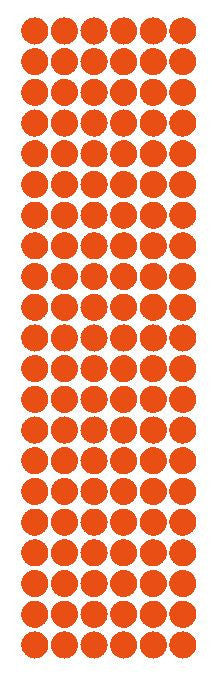 "3/8"" Orange Round Vinyl Color Code Inventory Label Dot Stickers - Winter Park Products"