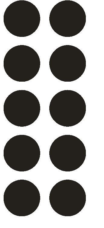 "1-1/2"" Black Round Color Coded Inventory Label Dots Stickers - Winter Park Products"