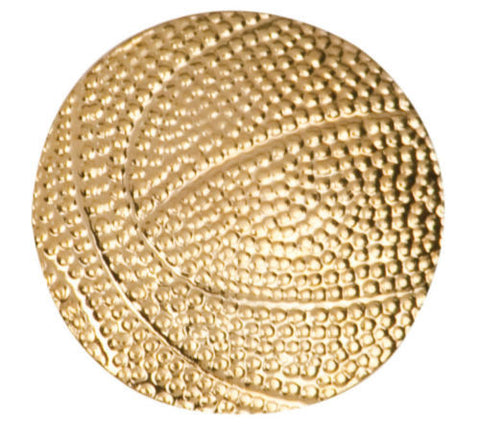 Gold Finish Metal Basketball Pin TIE TACK School Varsity Insignia Chenille - Winter Park Products