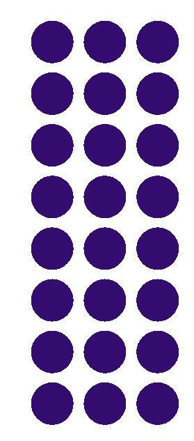 "1"" Purple Round Vinyl Color Code Inventory Label Dot Stickers - Winter Park Products"