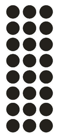 "1"" Black Round Vinyl Color Code Inventory Label Dot Stickers - Winter Park Products"