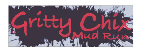 Gritty Chix Mud Run Bumper Sticker or Helmet Sticker D633 - Winter Park Products