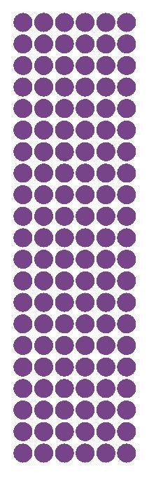 "3/8"" Lavender Round Vinyl Color Code Inventory Label Dot Stickers - Winter Park Products"