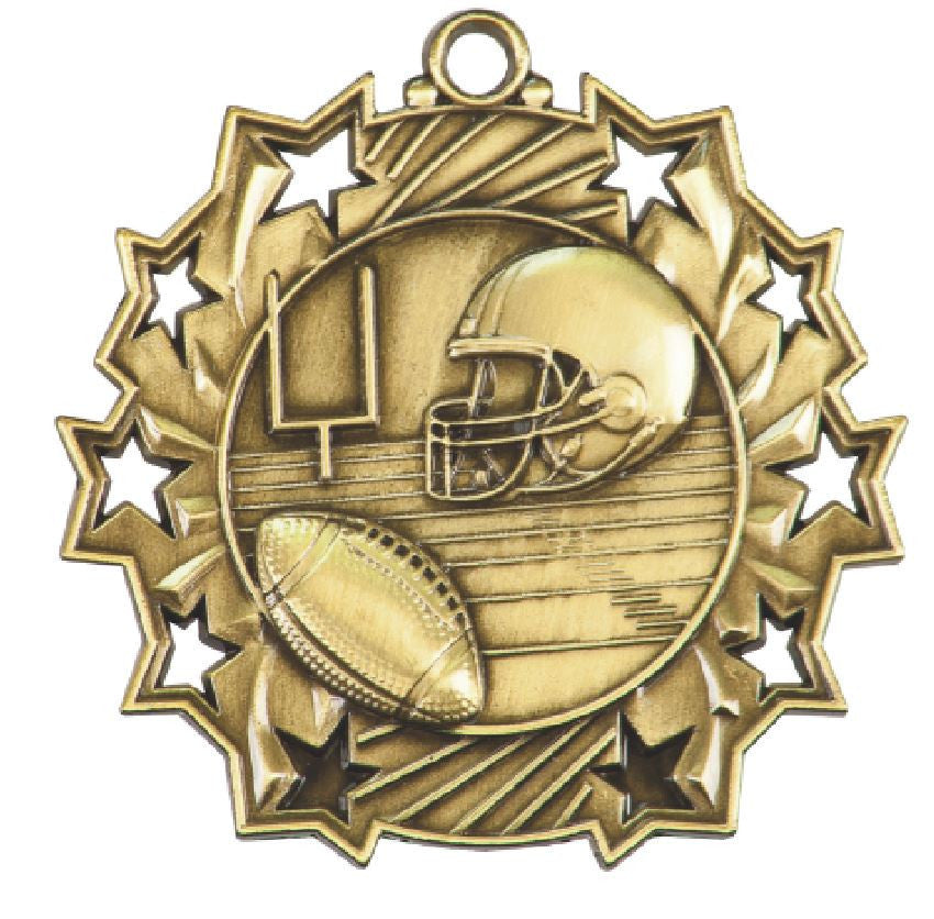 Football Medals Award Trophy Team Sports W/Free Lanyard FREE SHIPPING TS405 - Winter Park Products