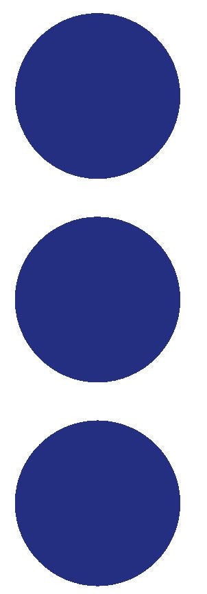 "2-1/2"" Dk Blue Round Color Code Inventory Label Dots Stickers - Winter Park Products"