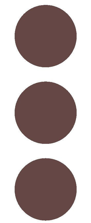 "2-1/2"" Brown Round Color Code Inventory Label Dots Stickers - Winter Park Products"