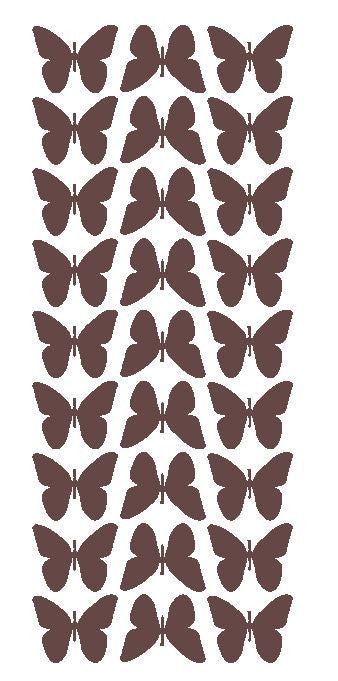 "Brown 1"" Butterfly Stickers BRIDAL SHOWER Wedding Envelope Seals School arts & Crafts - Winter Park Products"