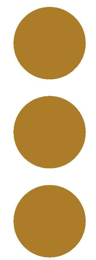 "3"" Gold Round Color Code Inventory Label Dots Stickers - Winter Park Products"