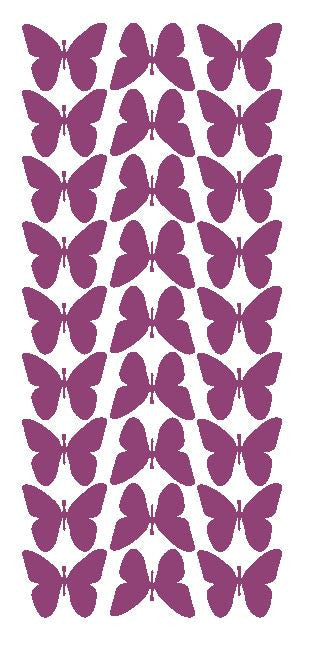 "Plum 1"" Butterfly Stickers BRIDAL SHOWER Wedding Envelope Seals School arts & Crafts - Winter Park Products"