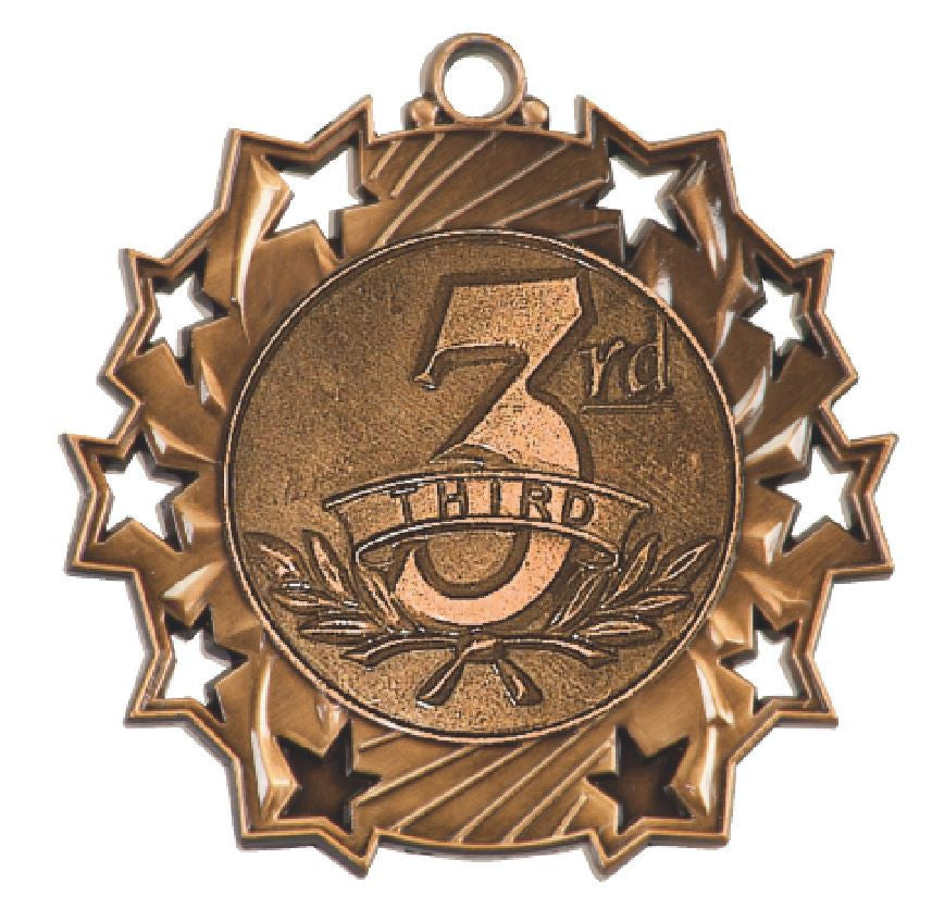 3rd Place Third Place Medals Award Trophy W/Free Lanyard FREE SHIPPING TS422 - Winter Park Products