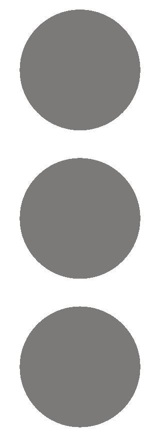 "2-1/2"" Dk Gray Grey Round Color Code Inventory Label Dots Stickers - Winter Park Products"