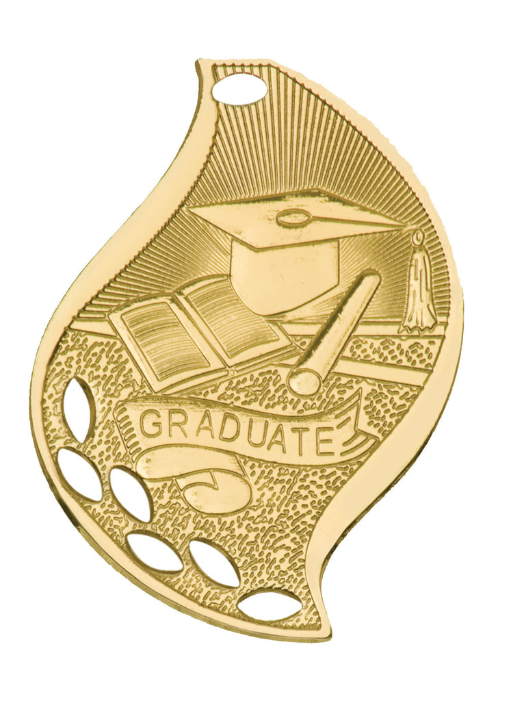 Graduate Medal Award Trophy With Free Lanyard FM206 - Winter Park Products