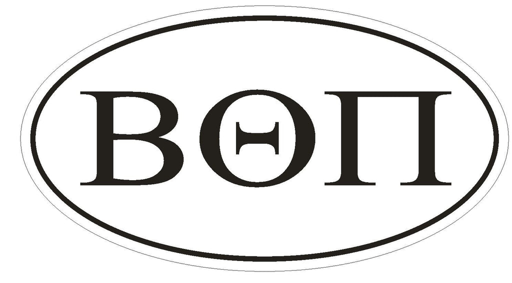 Beta Theta Pi Fraternity EURO OVAL Bumper Sticker or Helmet Sticker D577 - Winter Park Products