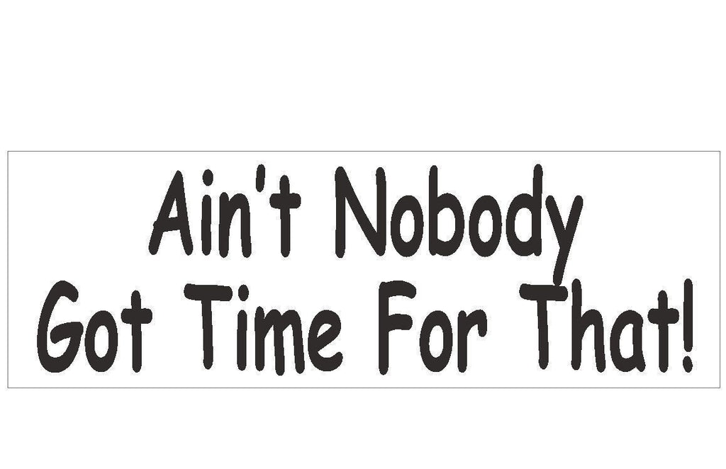 Ain't Nobody Got Time For That Bumper Sticker or Helmet Sticker USA MADE D176 - Winter Park Products