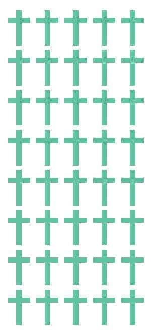 "1"" Mint Green Cross Stickers Envelope Seals Religious Church School arts Crafts - Winter Park Products"