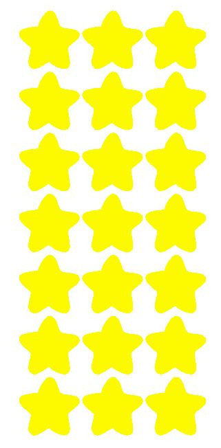 "1-1/4"" Lt Yellow Star Stickers Wedding Envelope Seals School Arts & Crafts - Winter Park Products"