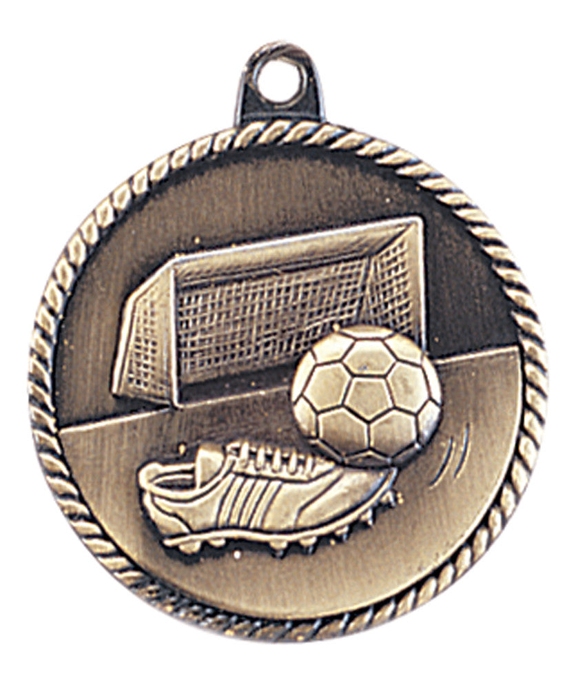 Soccer Medal Award Trophy With Free Lanyard HR745 - Winter Park Products