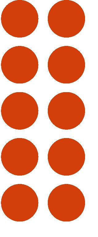 "1-1/2"" Red Round Color Coded Inventory Label Dots Stickers - Winter Park Products"