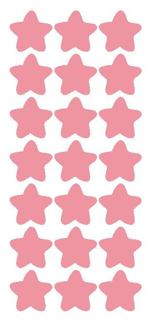 "1-1/4"" Pink Star Stickers Wedding Envelope Seals School Arts & Crafts - Winter Park Products"