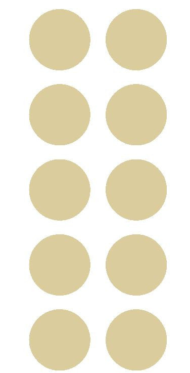 "2"" Beige Tan Round Color Coded Inventory Label Dots Stickers - Winter Park Products"
