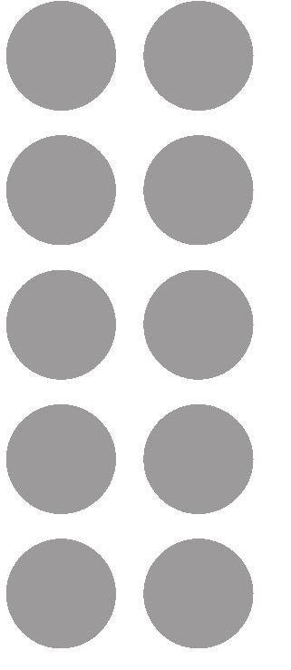 "1-1/2"" Silver Round Color Coded Inventory Label Dots Stickers - Winter Park Products"