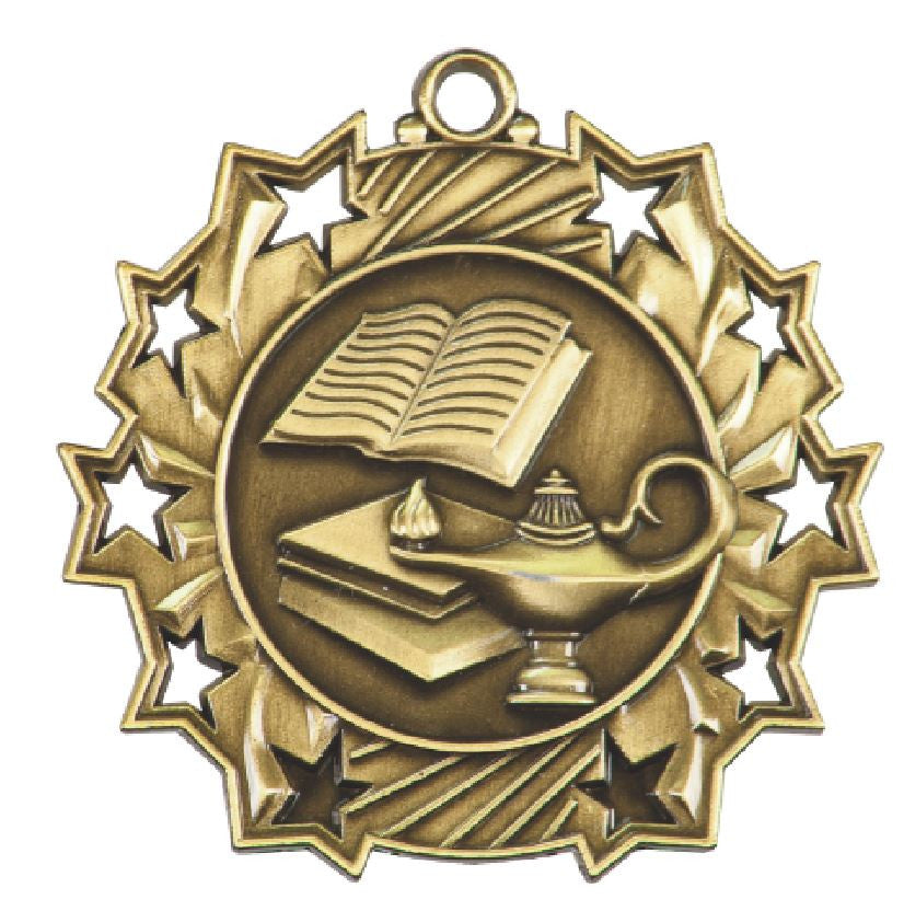 Lamp of Knowledge Medals Award Trophy  W/Free Lanyard FREE SHIPPING TS506 - Winter Park Products