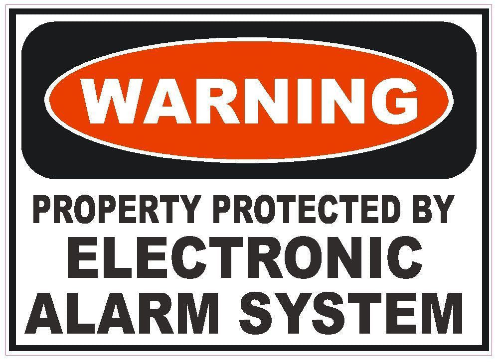 Electronic Alarm System Sticker Home Work Safety Business Sign Decal Label D242 - Winter Park Products