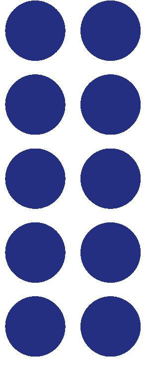"1-1/2"" Dark Blue Round Color Coded Inventory Label Dots Stickers - Winter Park Products"