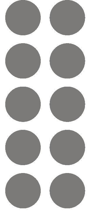 "1-1/2"" Dk Gray Grey Round Color Coded Inventory Label Dots Stickers - Winter Park Products"