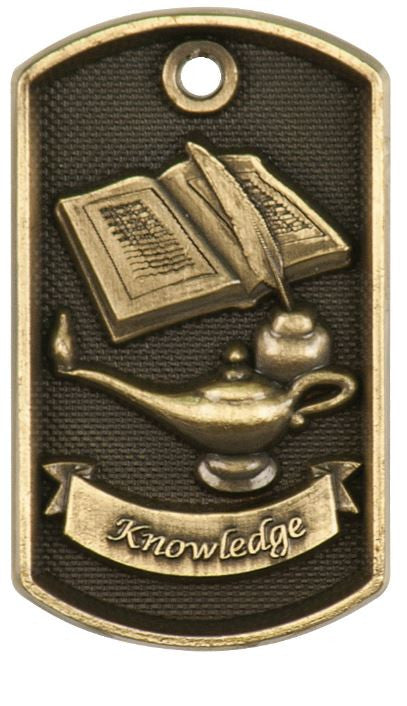 Lamp of Knowledge Dog Tag Award Trophy W/Free Bead Chain FREE SHIPPING DT208 - Winter Park Products