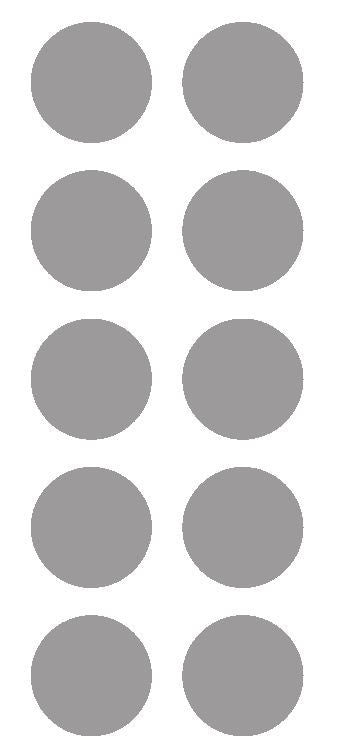 "2"" Silver Round Color Coded Inventory Label Dots Stickers - Winter Park Products"